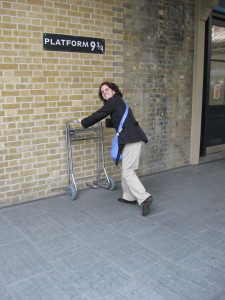 "Yes, I've been to the ""real"" Platform 9-3/4. Too bad my cart got stuck halfway through the wall."