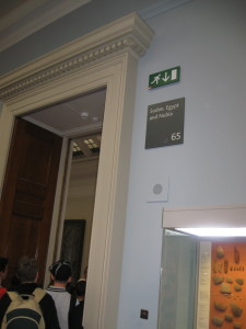 The Sign Identifying Room 65 in the British Museum