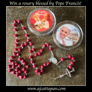 Rosary blessed by Pope Francis