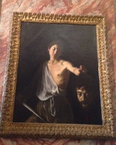 Caravaggio's David with Goliath's head
