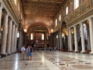 A slightly less crowded Santa Maria Maggiore