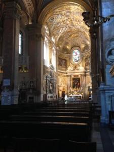 Interior of Santa Maria dell'Anime