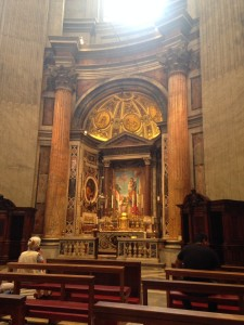 The Altar of St. Joseph in St. Peter's (not a bad place for Sunday masss)