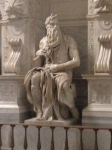Moses (with horns?) by Michelangelo