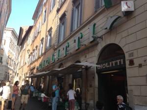 Giolitti's (small street, big sign)