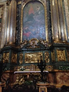Tomb and Altar of St. Ignatius of Loyola (founder of the Jesuits)