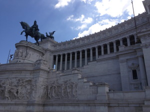 "Monument to Vittorio Emanuele (or as the Italians refer to it, the ""wedding cake"")"