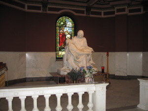 Replica of the Pieta at Our Lady of Sorrows Basilica