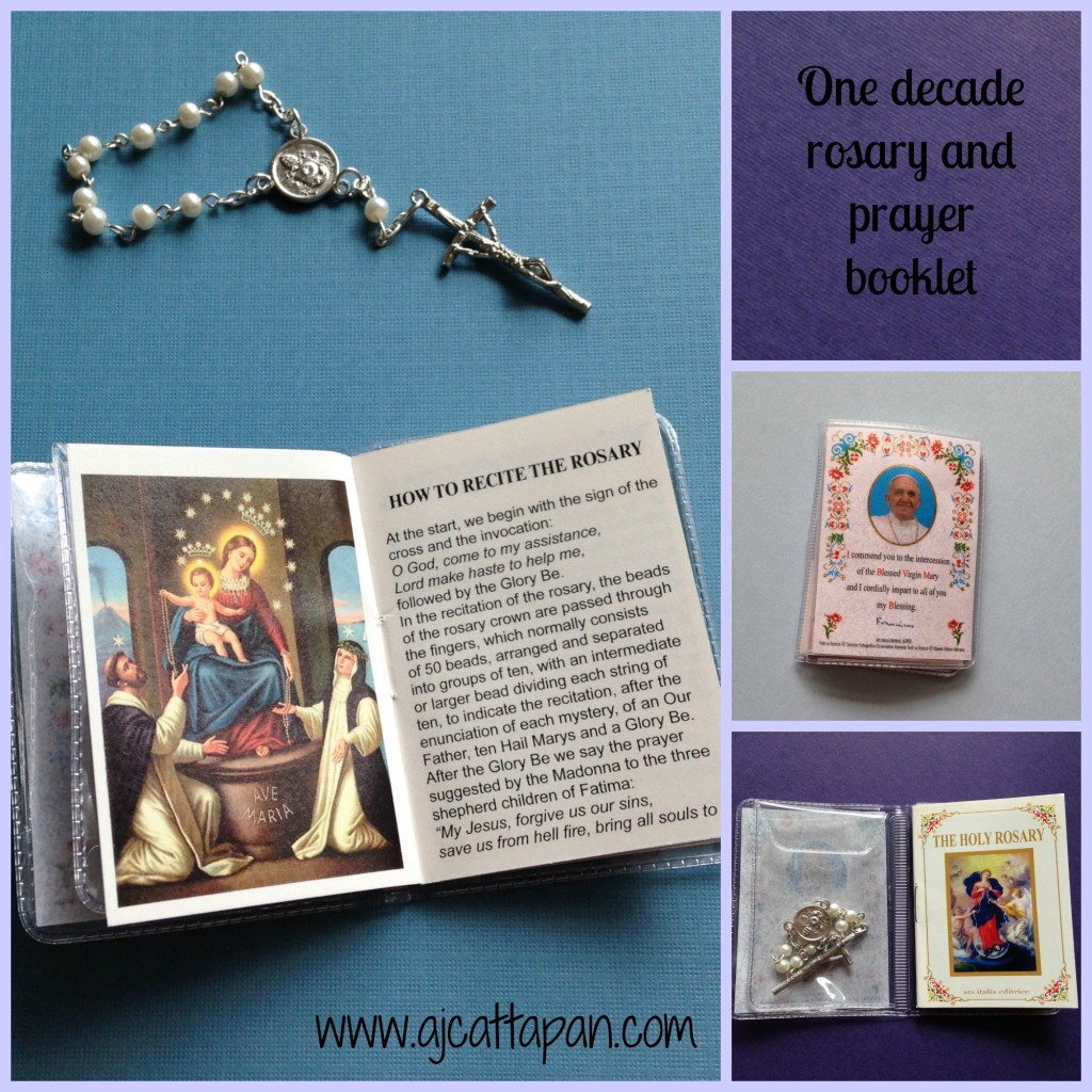 One decade rosary and booklet 2
