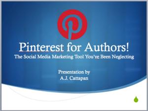 Pinterest for Authors screenshot