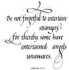 Entertain angels