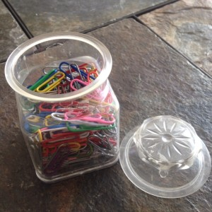I still have my colored paper clips from junior high.