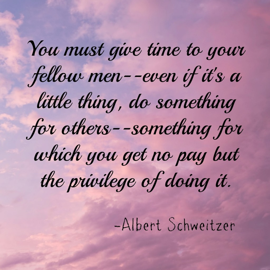 Schweitzer do for others