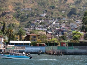 Some of the more typical Guatemalan homes on Lake Atitlan