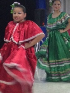 A couple of the younger dancers. Isn't this girl cute?