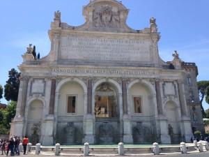 The fountain where the  boys lost their ball