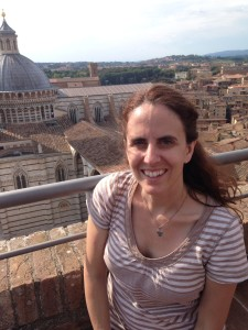On top of the wall of the Museo dell'Opera with the Duomo in the background