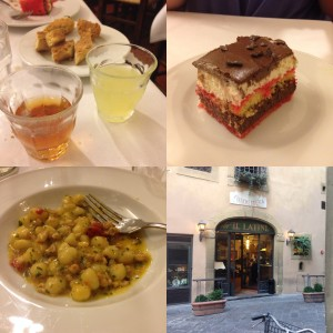 A recap of our meal at Il Latini