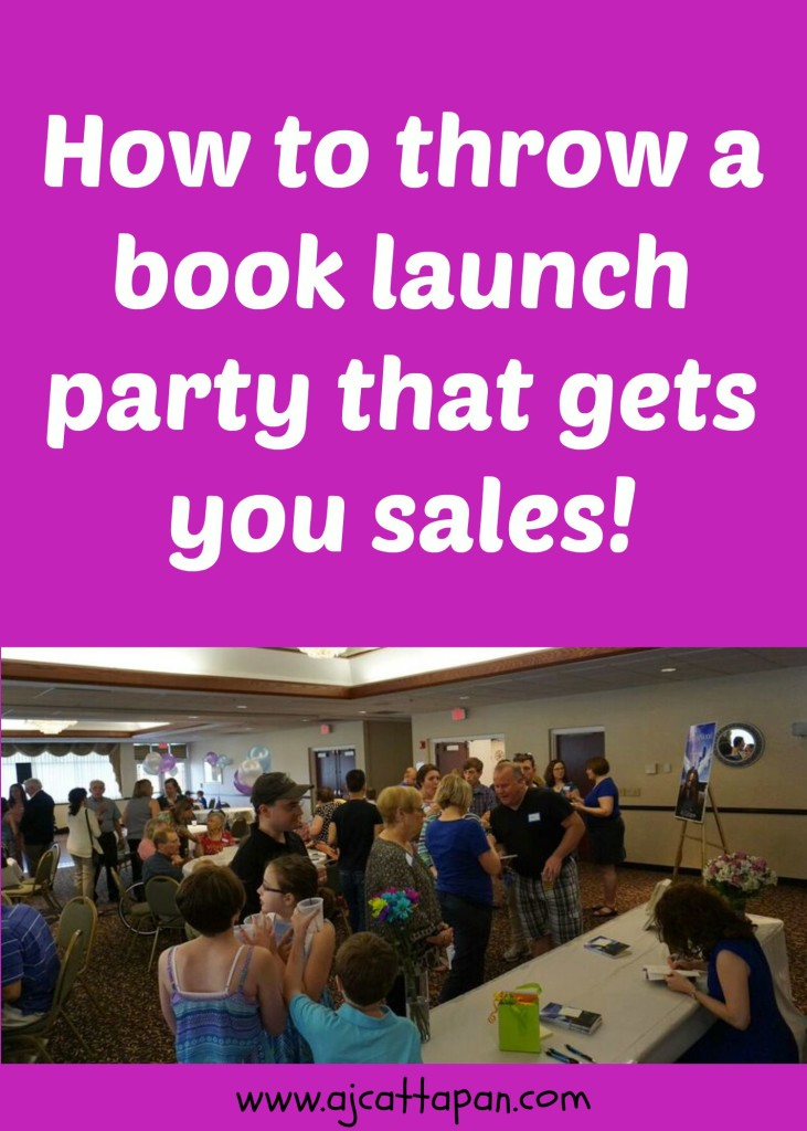 How to throw book launch party