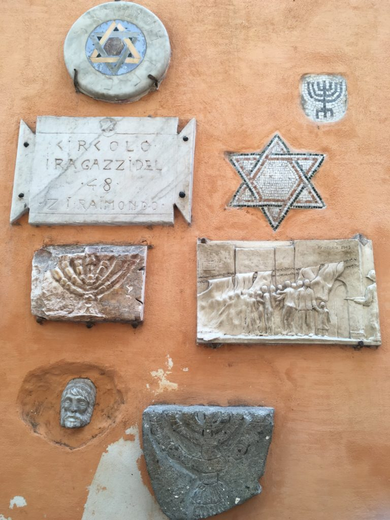 Markers for the Jews who were taking from the ghetto and killed during WWII.