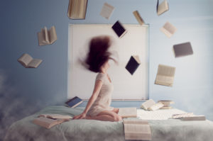 Don't bore your reader until she's tempted to throw her books up into the air.